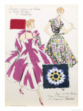 Sketches and Fabric Swatches, from L'Oficiel de La Couleur Des Industries de La Mode Giclee Print