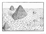 Pyramids of Egypt, Illustration from Oedipus Aegyptiacus, 1653 Reproduction procédé giclée par Athanasius Kircher