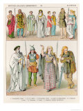 Dress of the Britons, Gauls and Germans, from Trachten Der Voelker, 1864 Giclee Print by Albert Kretschmer