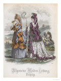 Two Ladies, Fashion Plate from the Allgemeine Moden-Zeitung, Leipzig, 1872 Giclee Print by Jules David