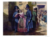 Arrest of a Prostitute by the Police, c.1835 Giclee Print by Jules David