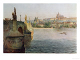View of the Charles Bridge from Krizovnicka Namesti, from 'stara Praha Giclee Print by Vaclav Jansa