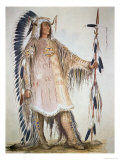 Mato-Tope, Second Chief of the Mandan People in 1833 Giclee Print by George Catlin
