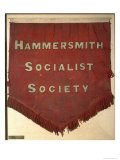 Banner of the Hammersmith Socialist Society Giclee Print by William Morris