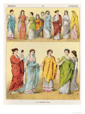 Female Roman Dress, from Trachten Der Voelker, 1864 Giclee Print by Albert Kretschmer