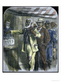 The First Vote For Black Voters in the South During State Elections of 1867 Reproduction proc&#233;d&#233; gicl&#233;e par Alfred Rudolf Waud