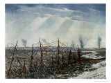 From a Front Line Trench, British Artists at the Front, Continuation of the Western Front, 1918 Giclee Print by Christopher Richard Wynne Nevinson