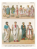 Roman Dress, from Trachten Der Voelker, 1864 Giclee Print by Albert Kretschmer