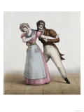 La Bonne et Le Patron Galant, c.1830 Gicl&#233;e-Druck von Francois Le Villain