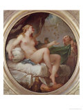 Danae Receiving the Shower of Gold, c.1735 Giclee Print by Charles Joseph Natoire