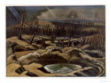 Field at Passchendaele, British Artists at the Front, Continuation of the Western Front, Nash, 1918 Giclee Print by Paul Nash