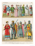 French Dress, c.1100, from Trachten Der Voelker, 1864 Giclee Print by Albert Kretschmer