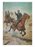 Dead Sure: A U.S. Cavalry Trooper in the 1870S Giclee Print by Charles Schreyvogel