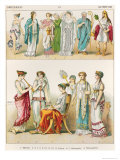 Greek Theatrical Dress, from Trachten Der Voelker, 1864 Giclee Print by Albert Kretschmer