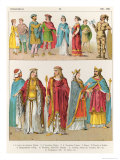 Frankish Dress, from Trachten Der Voelker, 1864 Giclee Print by Albert Kretschmer