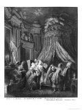The Bride's Going-To-Bed Ceremony, Engraved from Jean-Michel Moreau, Said the Young Giclee Print by Pierre Antoine Baudouin