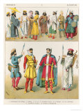 Persian Dress, from Trachten Der Voelker, 1864 Giclee Print by Albert Kretschmer