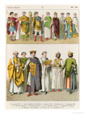 Dress at the Byzantine Court, 300-700, from Trachten Der Voelker, 1864 Giclee Print by Albert Kretschmer
