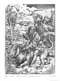 Samson Slaying the Lion, c.1496-98 Giclee Print by Albrecht Dürer