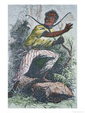 Runaway Slave in the Usa Wearing a Pronged Slave-Collar to Hamper Escape Giclee Print
