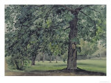 Landscape with Chestnut Tree in the Foreground Giclee Print by Thomas Collier