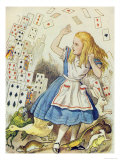 The Shower of Cards, Illustration from Alice in Wonderland by Lewis Carroll Giclee Print by John Tenniel