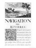 Navigation Des Rivieres Giclée-Druck von Sebastien Le Pretre de Vauban