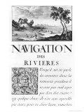 Navigation Des Rivieres Giclee Print by Sebastien Le Pretre de Vauban