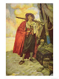 Buccaneer of Hispaniola in the Caribbean Giclee Print by Howard Pyle