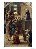 The Sermon of St. Peter the Martyr Giclee Print by Pedro Berruguete