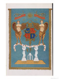 Masonic Lodge Emblem Showing Coat of Arms with Angels Giclee Print