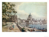Part of a Drawing by Canaletto, of St. Paul's Cathedral, the Terrace of Somerset House Giclee Print by William James