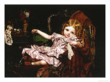 Young Girl in an Armchair, c.1850 Giclee Print by Sophie Anderson