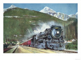 Canadian Pacific Railway at the Foot of the Rocky Mountains, 1935 Giclee Print