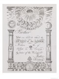 Invitation to Attend a Masonic Lodge Meeting in Wigan Giclee Print