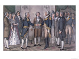 The First Meeting of General George Washington Giclee Print by Currier & Ives