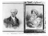 Self Portrait and Portrait of Princess Bagration, 1841 and 1812 Giclee Print by Jean-Baptiste Isabey