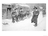 The Puritan Governor Interrupting the Christmas Sports, 1883 Giclee Print by Howard Pyle