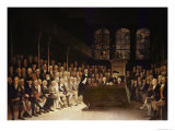 William Pitt Addressing the House of Commons on the French Declaration of Wars 1793 Giclee Print by Anton Hickel