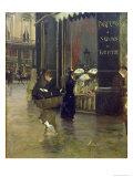 La Parfumerie Viollet, Boulevard Des Capucines Giclee Print by Giuseppe De Nittis