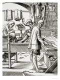 Tailor, Reproduction of a Woodcut by Jost Amman Giclee Print