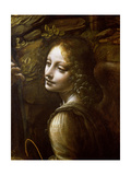 Detail of the Angel, from the Virgin of the Rocks Giclee Print by Leonardo da Vinci 