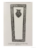 Print from a Master Mason's Grave Slab in the Old Abbey, Bangor, Co. Down, Dated 1626 Giclee Print