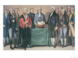 The Inauguration of President George Washington Lmina gicle por Currier & Ives