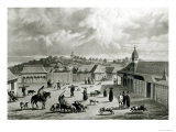 Plaza de San-Carlos de Chiloe, 1835 Giclee Print by Claudio Gay