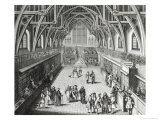 Westminster Hall, the First Day of Term, a Satirical Poem, 1797 Engraved by c.Mosley Giclee Print by Hubert Gravelot