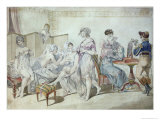 Laundry Workers Levee, Early 19th Century Giclee Print by Jean Francois Bosio