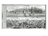 The City of Lisbon Before, During and After the Earthquake of 1755 Giclee Print