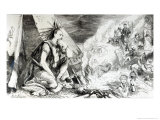 "Pictures in the Fire, Cartoon from Tomahawk Magazine, August 24th 1867 Giclee Print by Matthew ""matt"" Somerville Morgan"