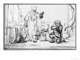 Parable of the Ruthless Creditor Giclee Print by  Rembrandt van Rijn